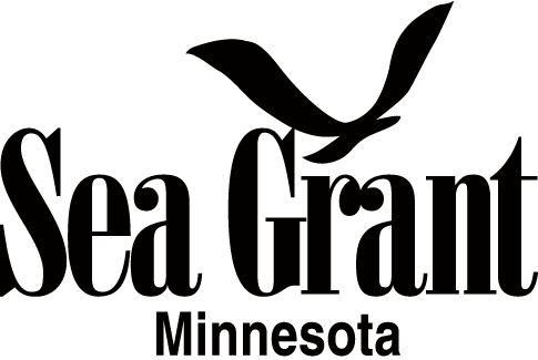 Graphic of Gull with text Sea Grant Minnesota
