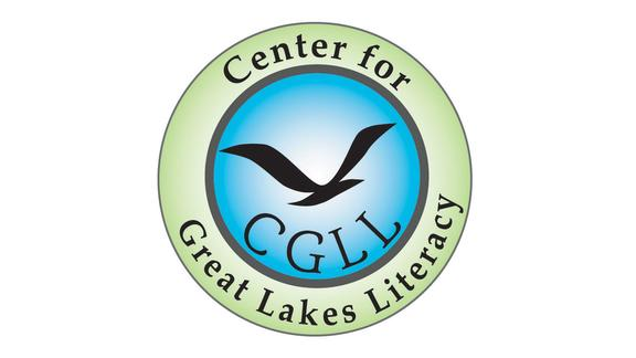Round logo with gull and text Center for Great Lakes Literacy